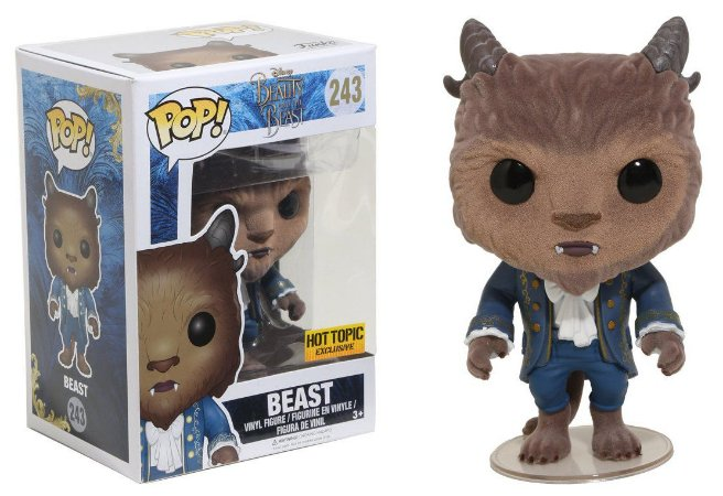 Funko Pop Disney Bela e a Fera - Beast Flocked Exclusivo #243