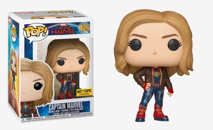 Funko Pop Marvel Captain Capitã Marvel Exclusiva #435