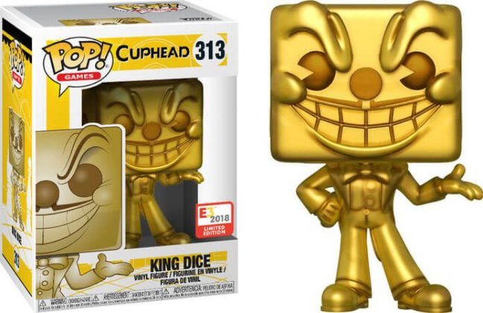 Funko Pop Cuphead King Dice Gold Exclusivo 2018 E3 #313