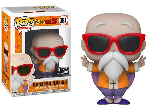 Funko Pop Dragon Ball Z Master Roshi Peace Sign Exclusivo #381