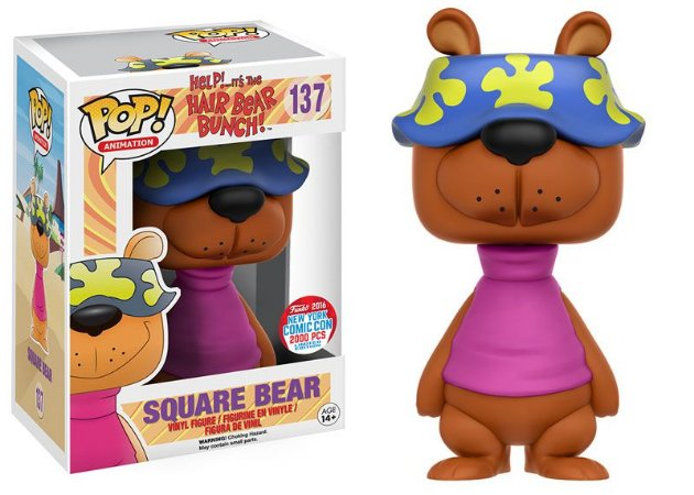 Funko Pop Hair Bear Bunch Square Bear Exclusivo NYCC16 #137