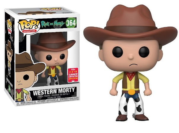 Funko Pop Rick and Morty Western Morty Exclusivo SDCC18 #364
