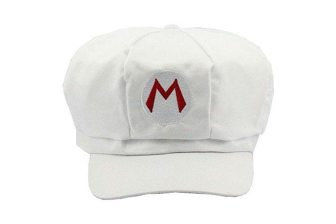 Boina Super Mario Bros Branca Cosplay
