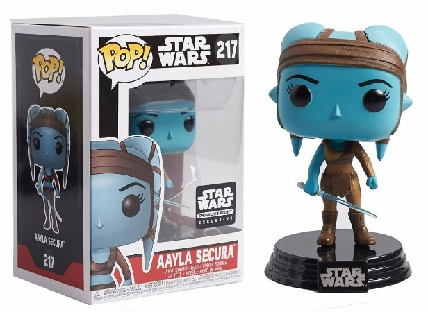 Funko Pop Star Wars Aayla Secura Exclusiva Smuggler's Bounty #217