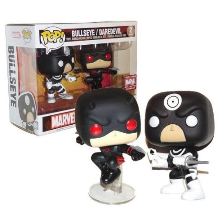 Funko Pop Marvel Bullseye e Daredevil Pack Exclusivo Collector Corps