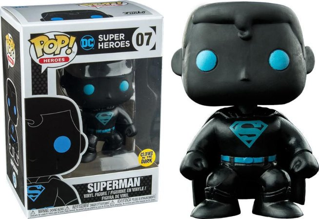Funko Pop Dc Super Heroes Superman Silhouette Glow Exclusivo #07