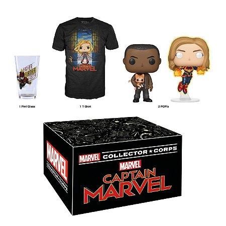 Funko Box Marvel Collector Corps Capitã Marvel Exclusivo