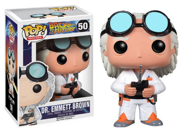 Funko Pop De Volta para o Futuro Back To de Future Dr Emmet Brown #50