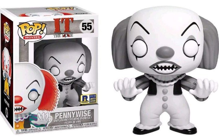 Funko Pop It A Coisa Pennywise Black and White Exclusivo RI Comic Con #55