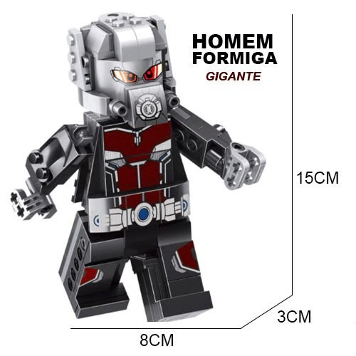 Bloco de Montar Homem Formiga Ant-Man Giant Man 15cm Compatível
