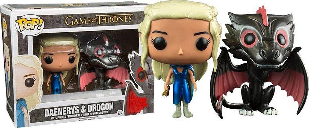 Funko Pop Game of Thrones Daenerys e Drogo Metálico Pack Exclusivo