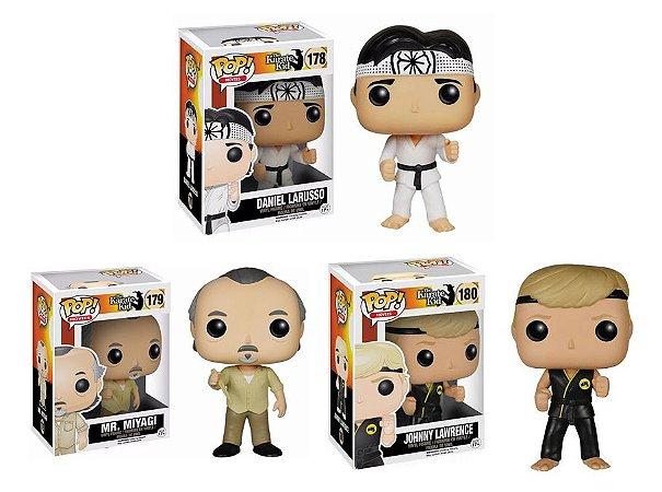 Funko Pop Karate Kid Daniel Sam #178  + Mr Miyagi #179  + Johnny Lawrence #180