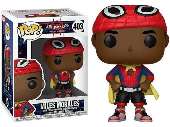 Funko Pop Marvel Homem Aranha Spider-Man Into to Spider-Verse Miles Morales #403