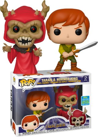 Funko Pop Disney The Black Cauldron Caldeirão Magico Taran e Horned King 2 Pack Exclusivo