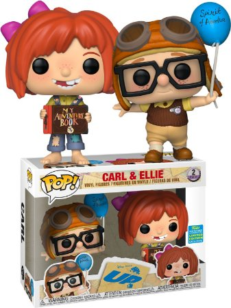 Funko Pop Disney UP Carl e Ellie 2 Pack Exclusivo SDCC 19