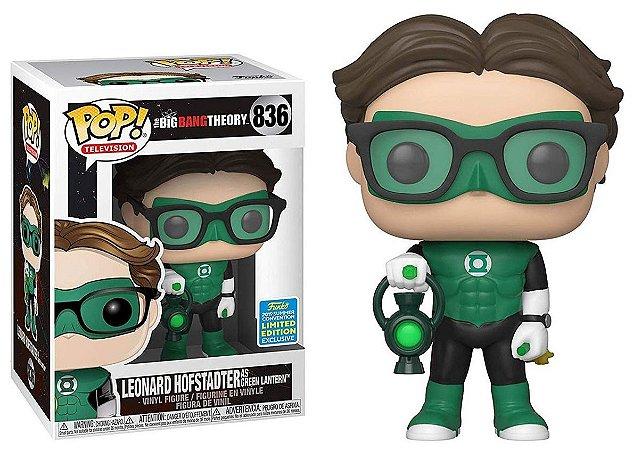 Funko Pop The Big Bang Theory Leonard Lanterna Verde Exclusivo SDCC 19 #836