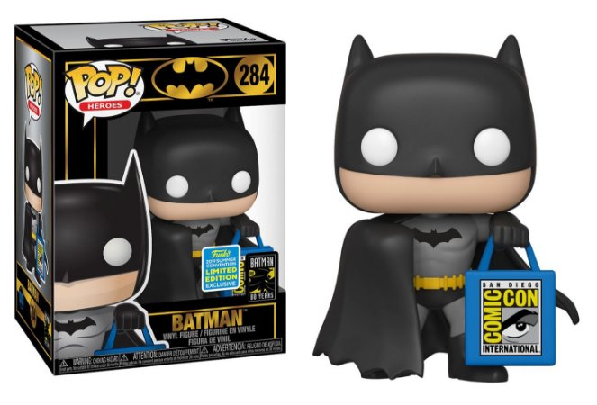 Funko Pop DC Batman 80th With Bag Exclusivo SDCC 19 #284