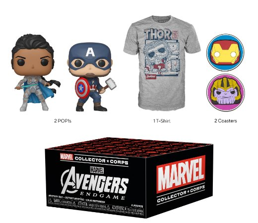 Funko Box Marvel Corps Avengers End Game Capitão América