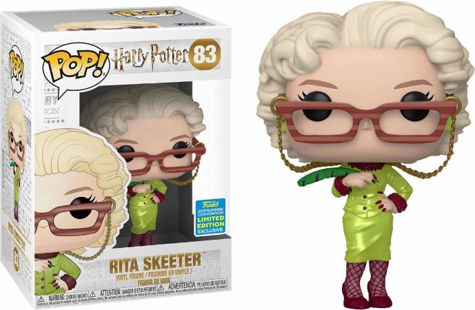 Funko Pop Harry Potter Rita Skeeter Exclusiva SDCC 19 #83