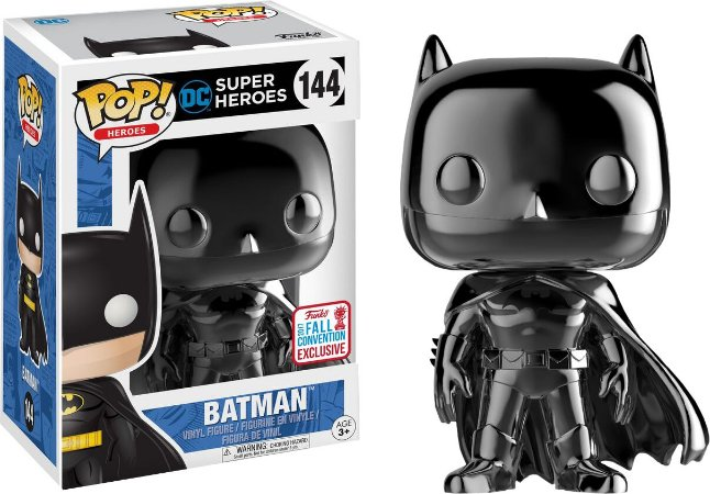 Funko Pop Batman Black Chrome Exclusivo NYCC 17 #144