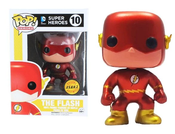 Funko Pop DC The Flash Metálico Chase #10