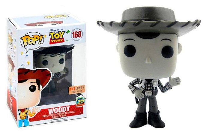 Funko Pop Disney Toy Story Woody Black and White Exclusivo #168