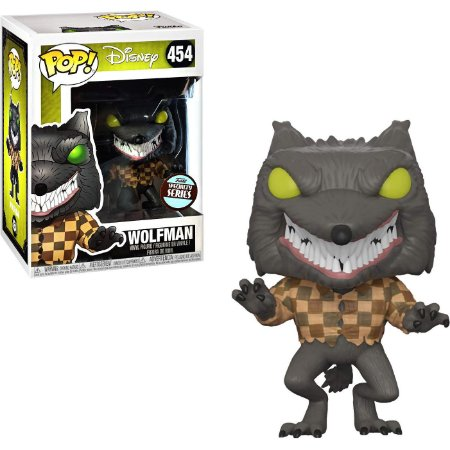 Funko Pop Disney O Estranho Mundo de Jack Wolfman Exclusivo #454