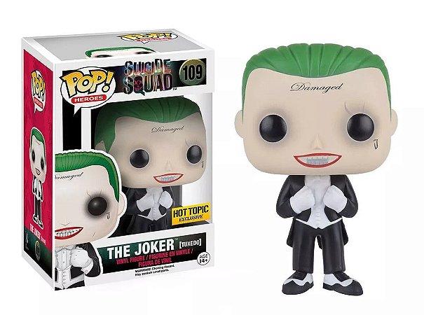 Funko Pop DC Suicide Squad The Joker Tuxedo Exclusivo Hot Topic #109