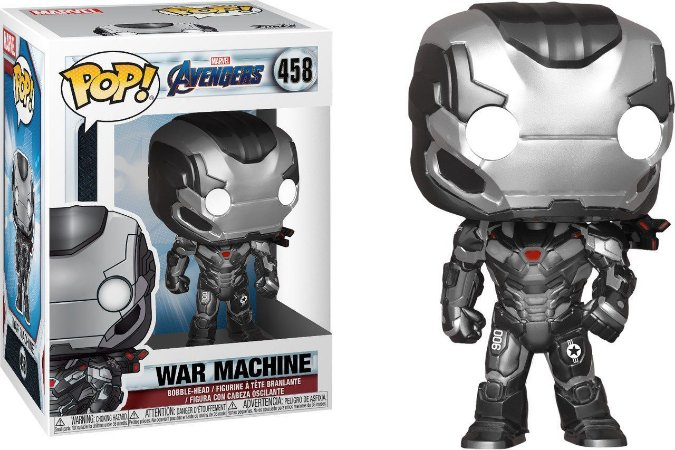 Funko Pop Marvel Vingadores Ultimato Avengers Endgame War Machine #458