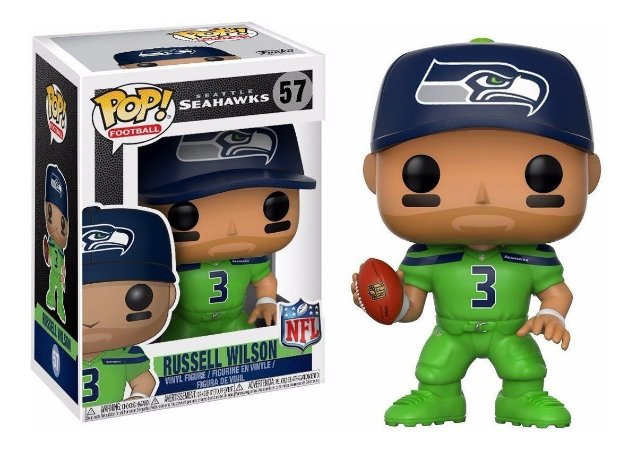 Funko Pop NFL Seattle Seahawks Russel Wilson Color Rush #57