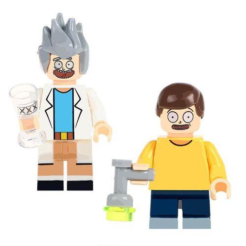 Kit 2 Bonecos Rick And Morty Bloco de Montar