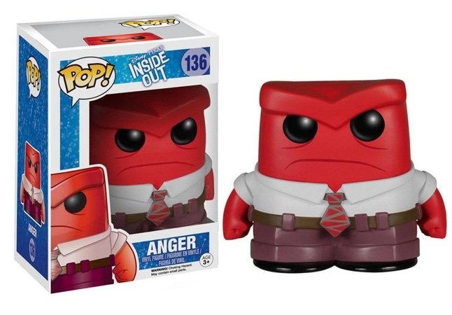 Funko Pop Disney Divertidamente Inside Out Arger Raiva #136