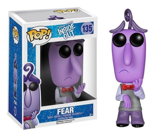 Funko Pop Disney Divertidamente Inside Out Fear Medo #135