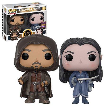 Funko Pop Senhor dos Anéis Aragorn e Arwen 2 Pack Exclusivo SDCC 17