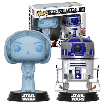 Funko Pop Star Wars Princesa Leia R2-D2 2-Pack Exclusivo SDCC 17