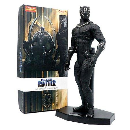 Estátua Pantera Negra Black Panther Crazy Toys 30cm