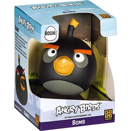 Boneco Angry Birds Bomb Preto Vinil Grow