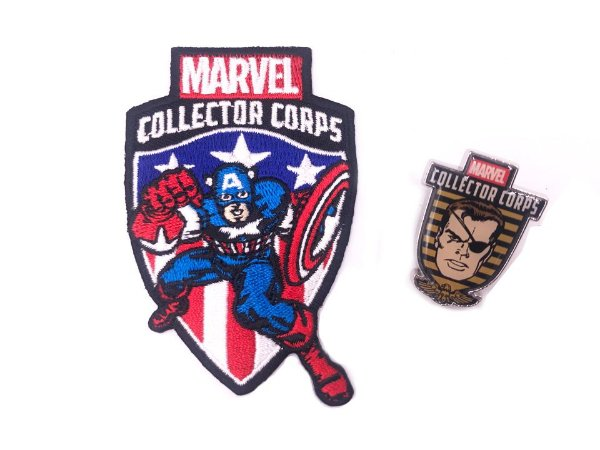 Patch + Pin Avengers First Appearance Marvel Collector Corps Funko