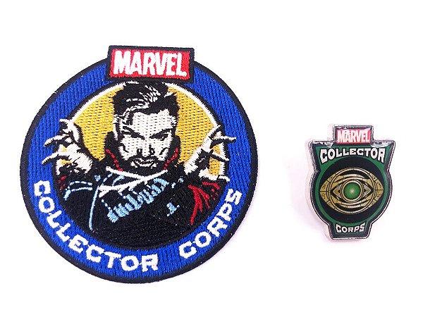 Pin E Patch Doutor Estranho Marvel Collector Corps Funko
