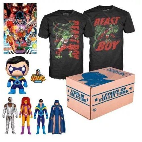 Funko Box Teen Titans Jovens Titans DC Legion of Collectors