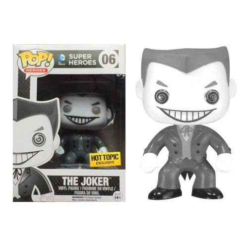 Funko Pop DC The Joker Coringa Black and White Exclusivo Hot Topic #06