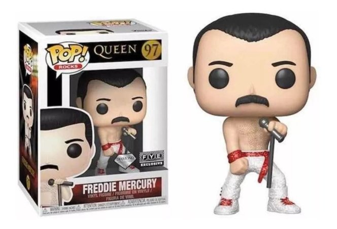 Funko Pop Freddie Mercury Diamond Glitter Fye #97
