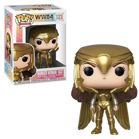 Funko Pop DC Mulher Maravilha Wonder Woman 1984 Golden #323