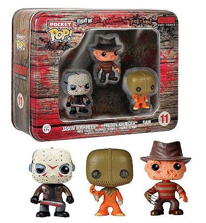 Funko Pocket Pop Horror Jason Freddy Sam 3 Pack