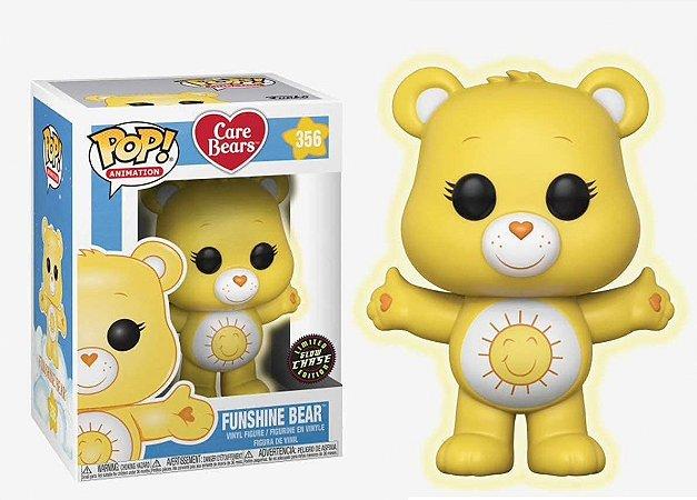 Funko Pop Ursinhos Carinhosos Care Bears Funshine Bear Glow Chase #356