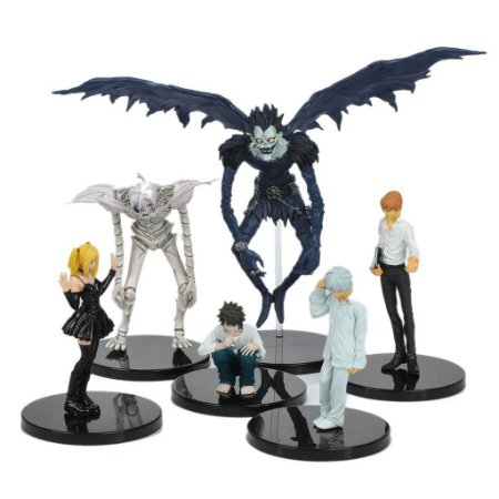 Set 6 Action Figures Death Note Ryuk L Misa Light Remu Near Anime