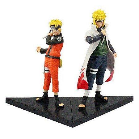 Kit 2 Action Figures Naruto Uzumaki e Minato Namikaze