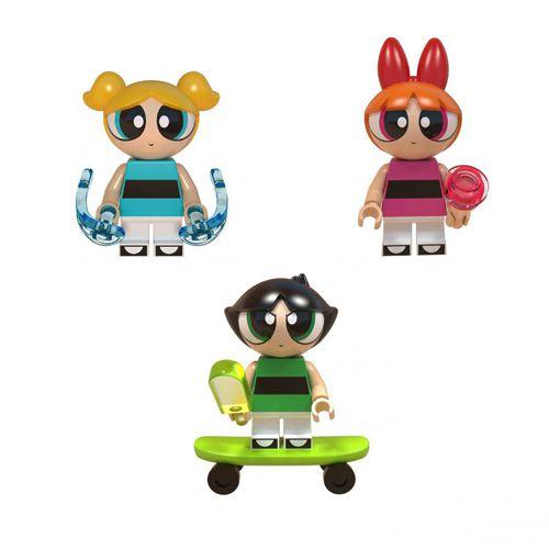 Kit 3 Bonecas Meninas Super Poderosas Bloco De Montar