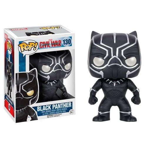 Funko Pop Marvel Capitão America Civil War Pantera Negra Black Panther #130