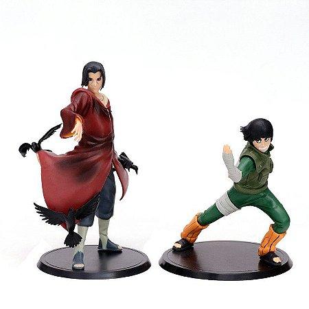 Kit 2 Action Figure Itachi Uchiha e Rock Lee Naruto